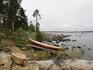 привал на берегу озера в окрестностях Инари
