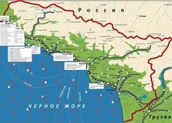 Карта дорог Абхазии