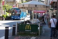 Макдональдс в Андорре. Здесь их очень много.