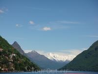 А там между гор уже территория Италии