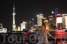 Ночной Шанхай. Набережная реки Хуан-Пу