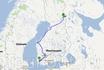 Деревня Рука (ударение на первый слог) на карте