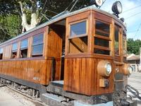 Из Сольера в Пальму мы ехали на старинном поезде, проходящем через несколько тонеллей
