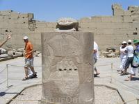 знаменитый скарабей в Луксоре (ходите кругом - загадывайте желание)