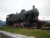 Памятник-паровоз на станции Нова-Горица