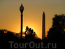 закат в Вашингтоне