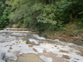река не всегда  тихая и мирная, иногда она бывает и бурной