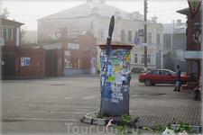 тумба для объявлений на улице Кирова
