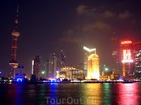 Панорама Шанхая с воды
