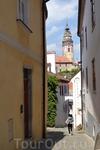 Чешский Крумлов, один из многочисленных переулков