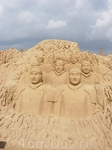 Фестиваль песчаных скульптур в Альбуфейре - теракотовая армия