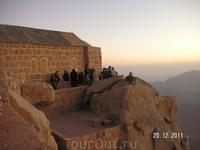 Гора Моисея (Синай); люди на горе