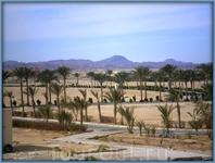 Аравийские горы и пустыня вдали