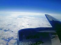 На подлете к Амстердаму.