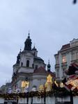 На северной части площади располагается Костел святого Николая. Костел Святого Николая впервые упомянут в 1273 г. в рукописях Бржевновского монастыря. Поначалу это был романский костел, предназначавши