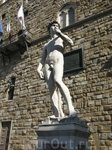 Статуя Давида (копия) площадь Синьории, Флоренция
