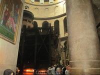 Храм Гроба Господня,  в центре которого - пещера Воскресения - Кувуклия.