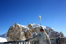 Звезда показывает саму вершину Zugspitze, 2962m