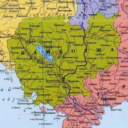 Карта Камбоджи с городами
