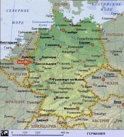 Карта Дюссельдорфа на русском