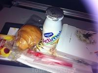 завтрак на борту TAP Portugal