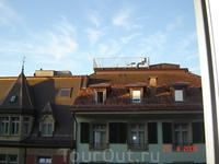 """Раннее утро. Собираемся в Альпы. """"Кадр"""" на крыше похоже там с вечера."""