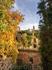Вид из общедоступного дворика монастыря на Собор. Дверка ведет в сад закрытой зоны монастыря.
