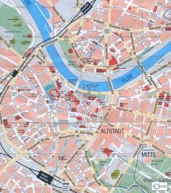 Карта Дрездена