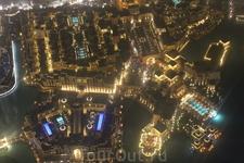 Дубай с высоты 124 этажа - смотровой площадки Бурж Калифа