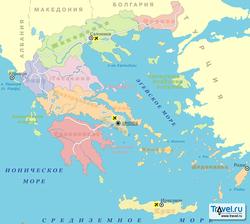 Карта администраций Греции