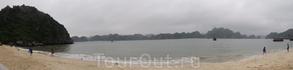 за качество не ругайте. Это пробная панорама.  Остров обезьян в заливе Халонг