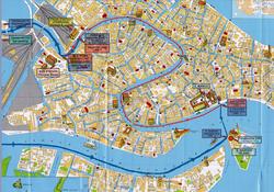 Карта Венеции с достопримечательностями