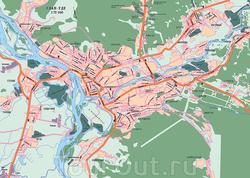 Карта Улан-Удэ