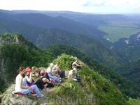 Вид с горы Трезубец. Мой день Рождения! 2009