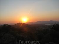 закат в деревне Зия
