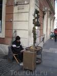 Продавец жареных каштанов