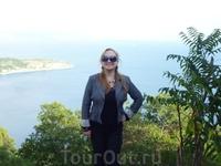я и чудесный фон с самой вершины Большого Острова