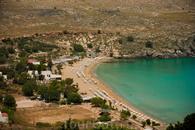 Пляж г. Линдос Этот пляж считается одним из самых чистых в Мире.
