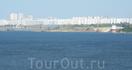 Вид на Набережные Челны с моста через Каму