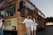 Это TourBus - автобус без стекол, для туристов вроде нас:)