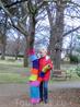 В Вышеграде, в парке у собора Святых Петра и Павла нами было обнаружено вот такое дерево, которое добрые люди утеплили милыми вязанными одежками.
