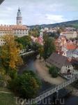 Вид на замок Крумлова