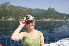 Плывем в Амальфи-очень красивые берега!