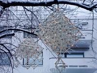 новогодние фонари на Липовой аллее