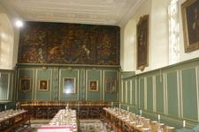 Столовая в одном из колледжей Кембриджа.