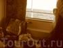 в каюте )) вид из окна прекрасен, каюта не впечатлила вообще ))
