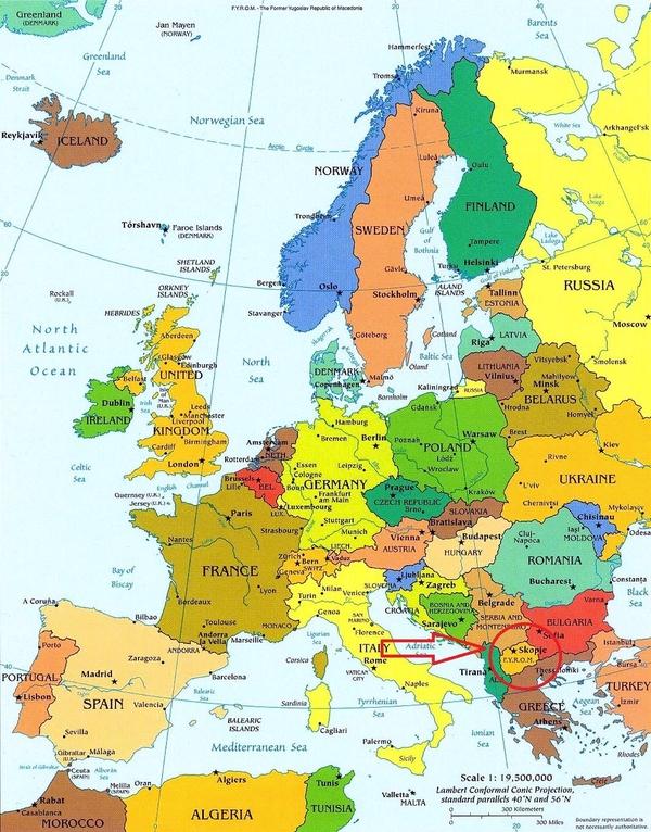 Makedoniya Na Karte Makedoniya Na Karte Evropy
