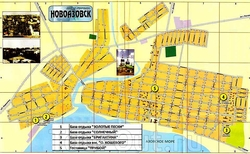 Карта Новоазовска с базами отдыха