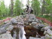 Памятник золотодобытчику