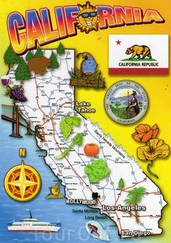 Карта Калифорнии для туристов